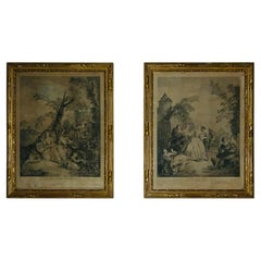Set of Two Framed French Engraved Art Prints