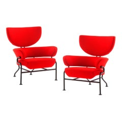 Set of Two Franco Albini Tre Pezzi Armchairs by Cassina