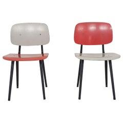 "Set of Two Friso Kramer for Ahrend de Cirkel ""Revolt"" Dining Chairs"