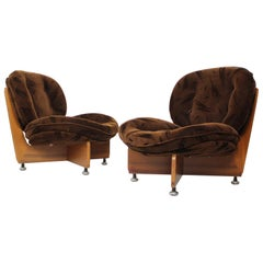 Set of Two German Armchairs, 1970s