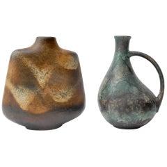 Set of Two German Ceramic Vases, 1960s