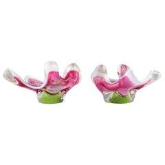 Set of Two Glass Bowls Designed by Josef Hospodka, 1960's