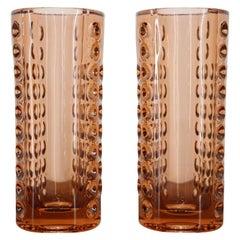 Set of Two Glass Design Vases by Rudolf Jurnikl / Czechoslovakia, 1962