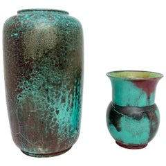 Set of Two Glazed Pottery Vases by Richard Uhlemeyer