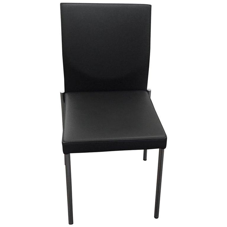Set of Two KFF Glooh Black Vinyl Side Chairs For Sale