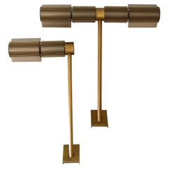 Set of Two Haloprofil Wall Lamps by V. Frauenknecht for Swisslamps International