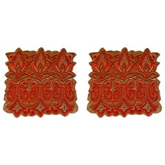 Set of Two Hand Beaded Placemats by Amy Seybert