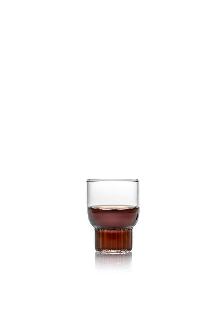 Modern EU Clients Set of 2 Handcrafted Czech Contemporary Rasori Mini Glasses, in Stock For Sale