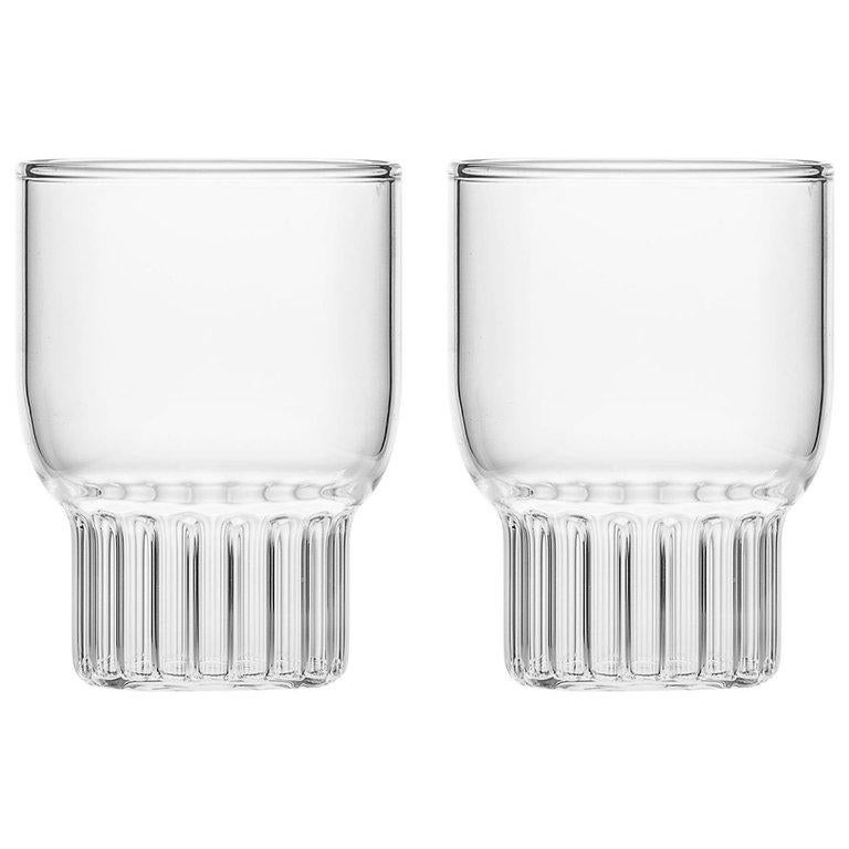 EU Clients Set of 2 Handcrafted Czech Contemporary Rasori Mini Glasses, in Stock For Sale