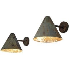 Set of Two Hans-Agne Jakobsson 'Tratten' Copper Wall Lights