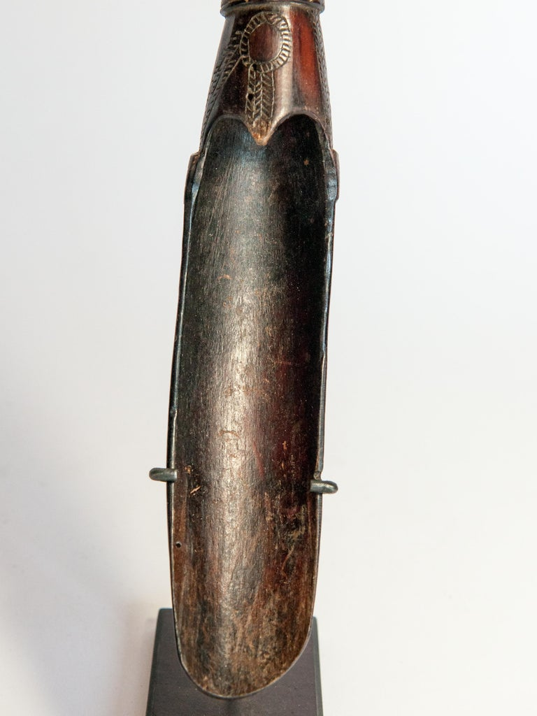 Set of Two Horn Spoons from the Sidamo of Ethiopia, Mounted, Mid-20th Century For Sale 10