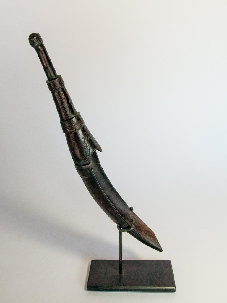 Set of Two Horn Spoons from the Sidamo of Ethiopia, Mounted, Mid-20th Century For Sale 11