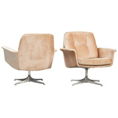 Set of Two Horst Bruning Swivel Lounge Chairs for COR