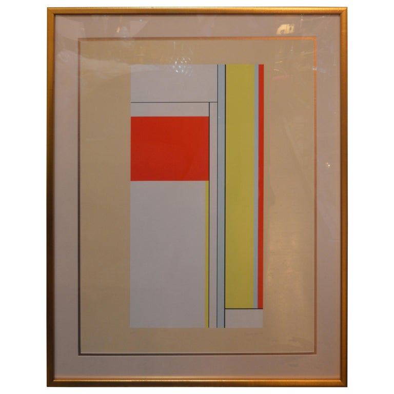 Two Ilya Bolotowsky serigraphs. One is signed on the bottom right and then numbered and.