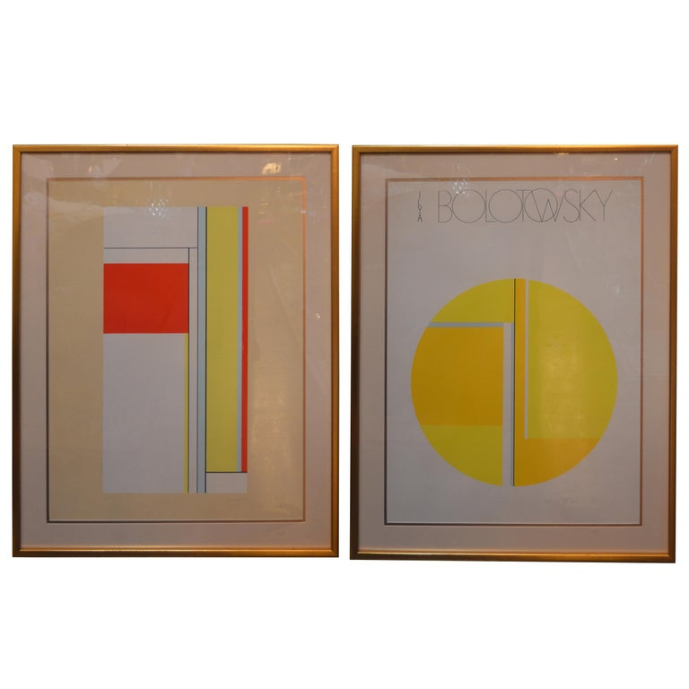 Set of Two Ilya Bolotowsky Serigraphs For Sale