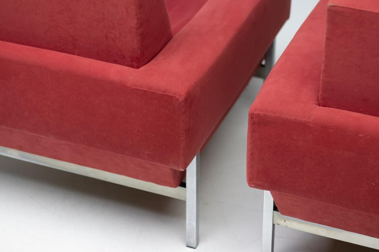 Set of Two Italian Armchairs by Saporiti For Sale 1