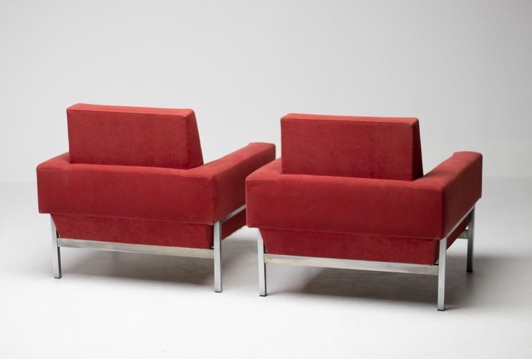 Set of Two Italian Armchairs by Saporiti For Sale 3