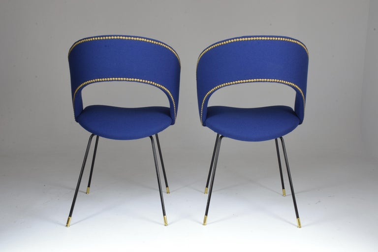 Set of Two Italian Chairs by Gastone Rinaldi for Rima, 1950s For Sale 1