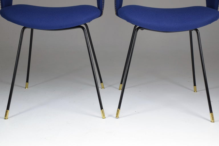 Set of Two Italian Chairs by Gastone Rinaldi for Rima, 1950s For Sale 3