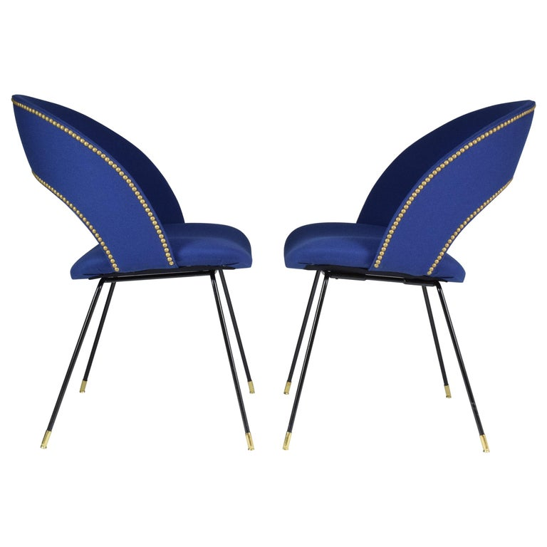 Set of Two Italian Chairs by Gastone Rinaldi for Rima, 1950s For Sale