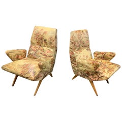 Set of Two Italian Lounge Chairs by Nino Zoncada