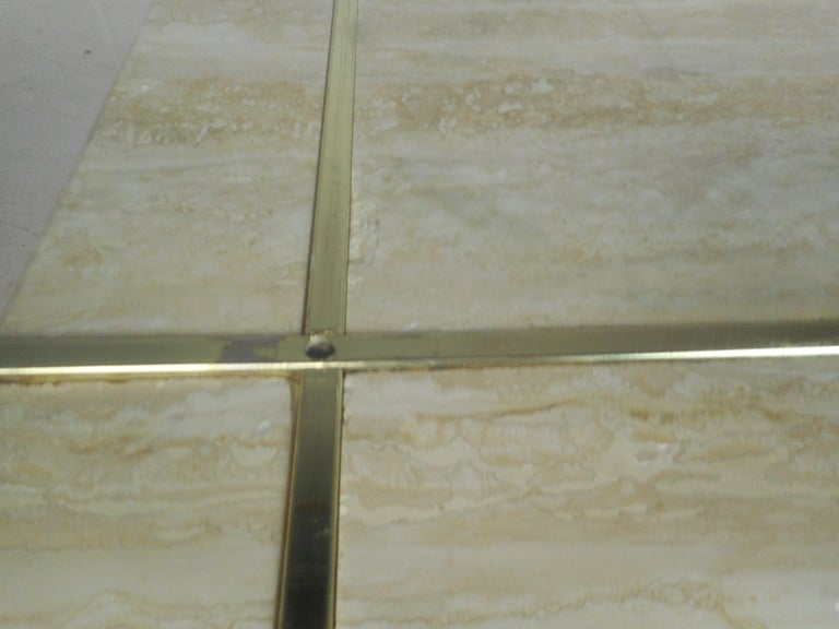 Set of Two Italian Mid-Century Modern Marble Base Artedi Tables For Sale 5