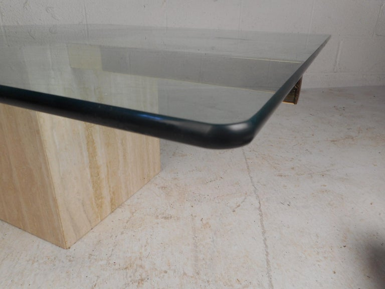 Set of Two Italian Mid-Century Modern Marble Base Artedi Tables For Sale 7