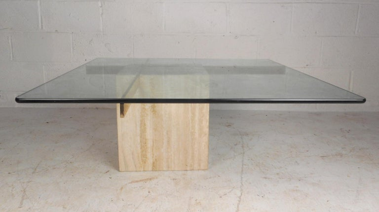 Set of Two Italian Mid-Century Modern Marble Base Artedi Tables For Sale 8