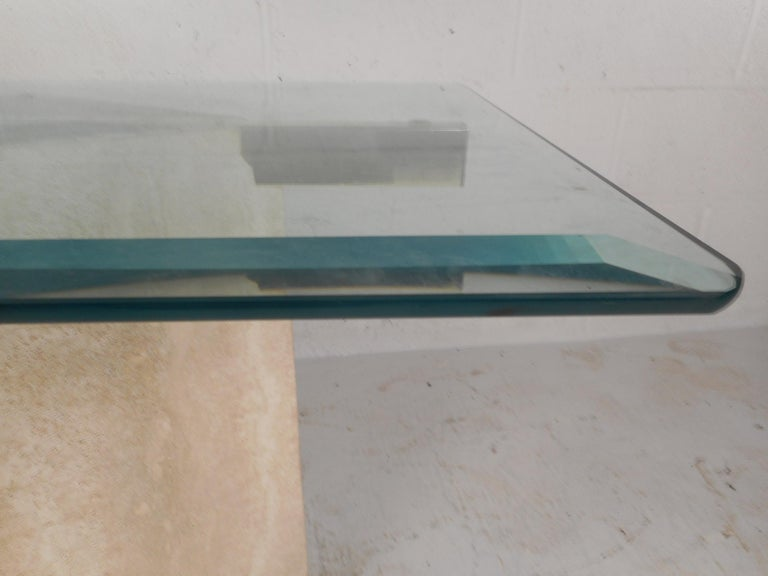 Set of Two Italian Mid-Century Modern Marble Base Artedi Tables For Sale 12