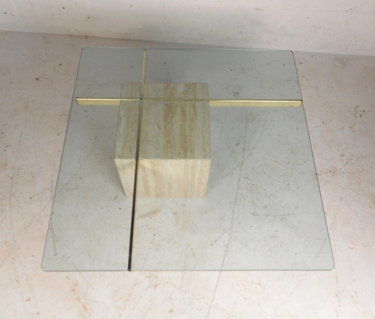 Set of Two Italian Mid-Century Modern Marble Base Artedi Tables In Good Condition For Sale In Brooklyn, NY