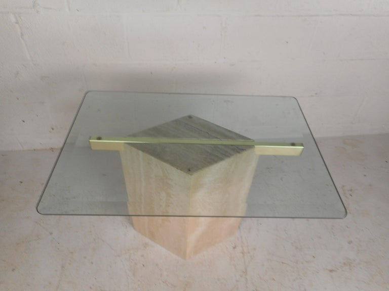 Mid-20th Century Set of Two Italian Mid-Century Modern Marble Base Artedi Tables For Sale