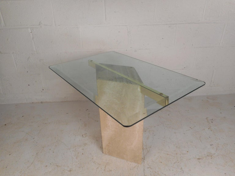 Set of Two Italian Mid-Century Modern Marble Base Artedi Tables For Sale 1