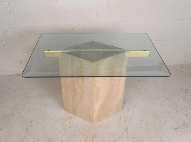 Set of Two Italian Mid-Century Modern Marble Base Artedi Tables For Sale 2