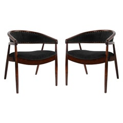 Set of Two James Mont Style Bent Beech Armchairs, B-3300 Type, 1960s