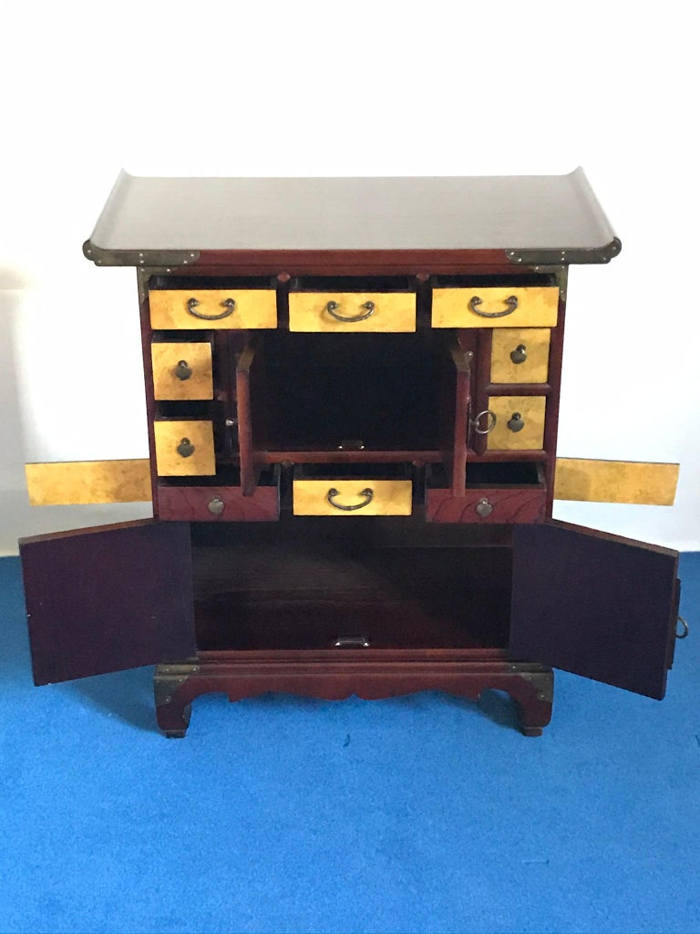 Mid-Century Modern Set of Two Japonese Cases,