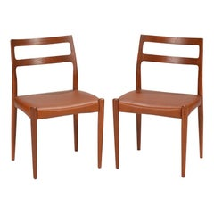 Set of Two Johannes Andersen for Uldum Møbelfabrik Danish Modern Dining Chairs