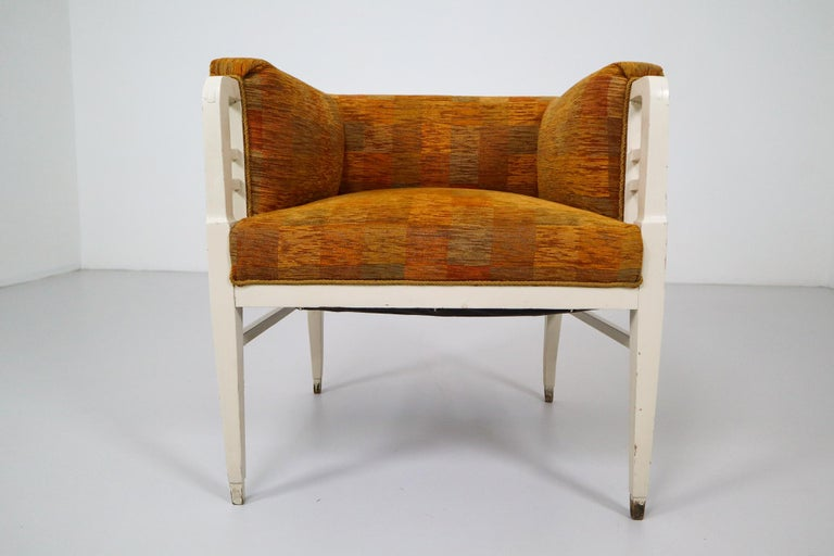 Fabric Set of Two Jugendstil Armchairs, Vienna, 1910s For Sale