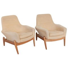 Set of Two Lady's Lounge Chairs Designed by Ib Kofod Larsen for Bovenkamp