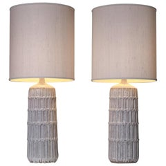 Set of Two Large Bitossi Table Lamps, Italy 1960's