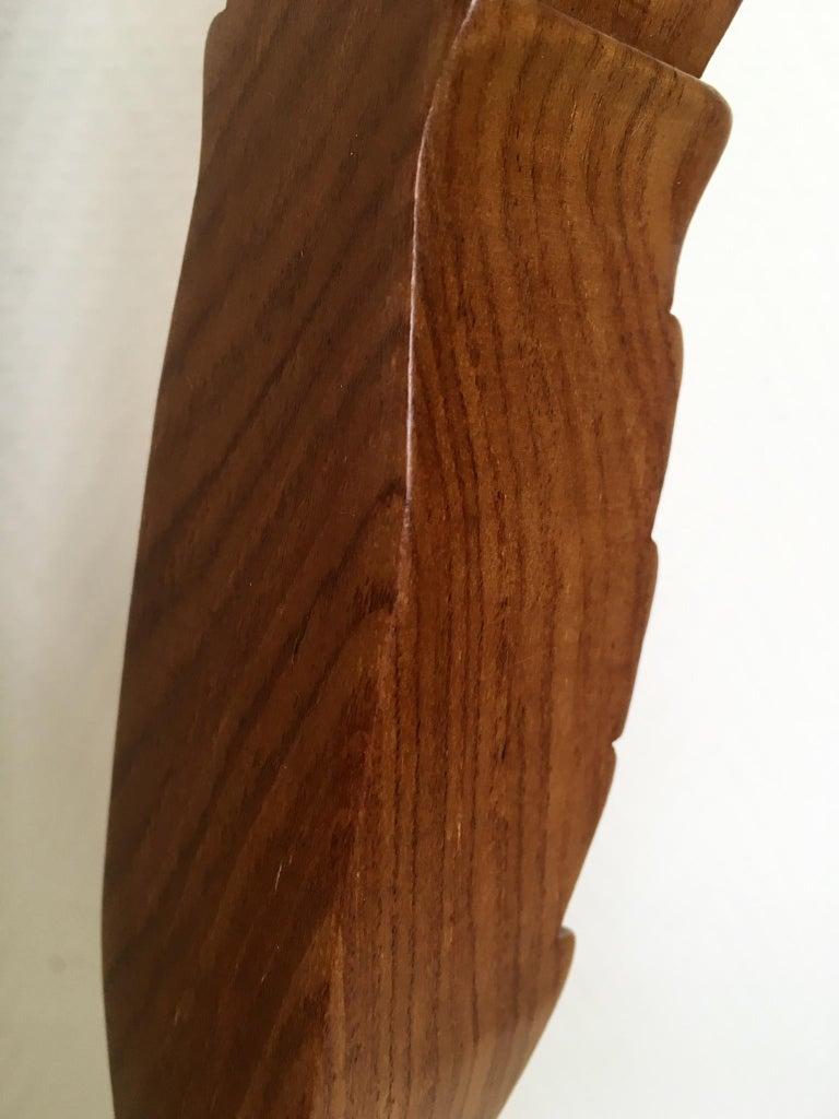 Hand-Carved Set of Two Large Brown Hand Carved Plant Standards, Pedestals For Sale