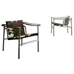 Set of Two LC1 Chairs by Le Corbusier, Pierre Jeanneret, Charlotte Perriand