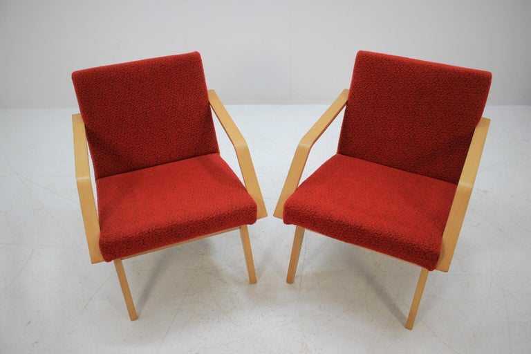 Czech Set of Two Lounge Chair by Expo 58 Brusel, 1958's For Sale