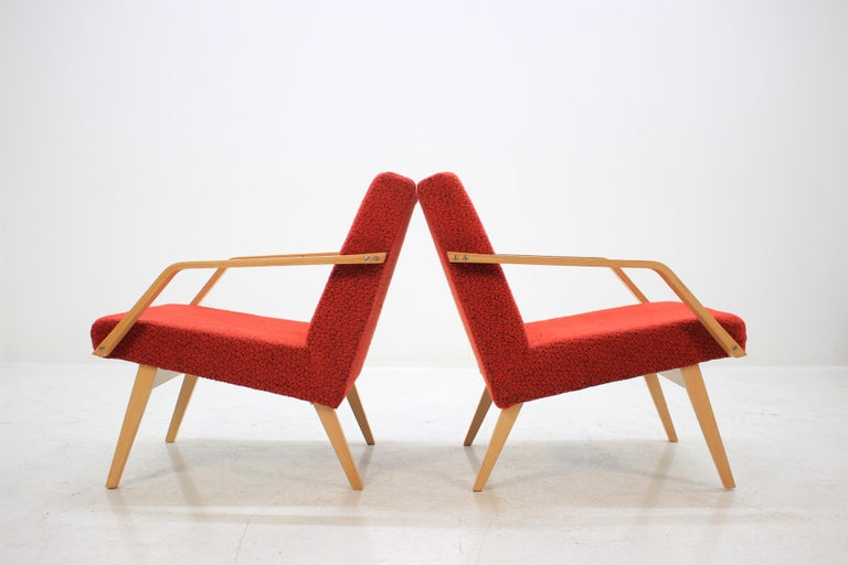 Mid-20th Century Set of Two Lounge Chair by Expo 58 Brusel, 1958's For Sale