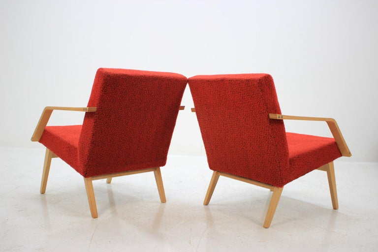 Bentwood Set of Two Lounge Chair by Expo 58 Brusel, 1958's For Sale