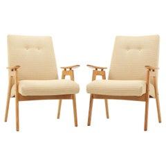 Set of Two Lounge Chair by Jaroslav Šmídek for Jitona, 1960s