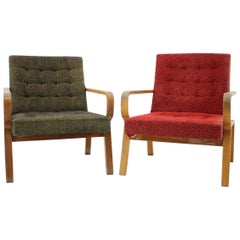 Set of Two Lounge Chairs, 1970s