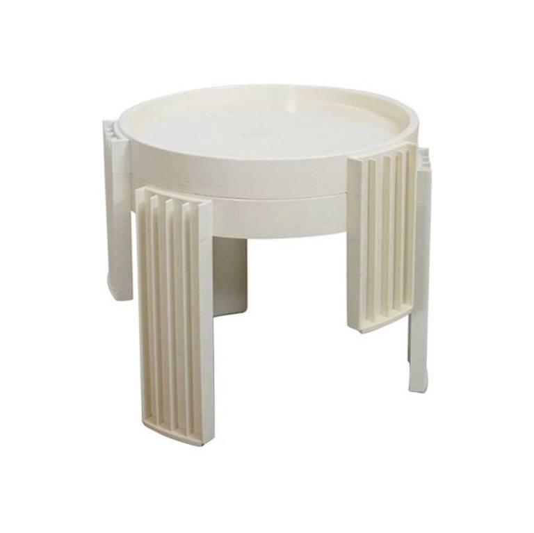 """Set of Two """"Marema"""" Stacking Tables by Gianfranco Frattini for Cassina"""