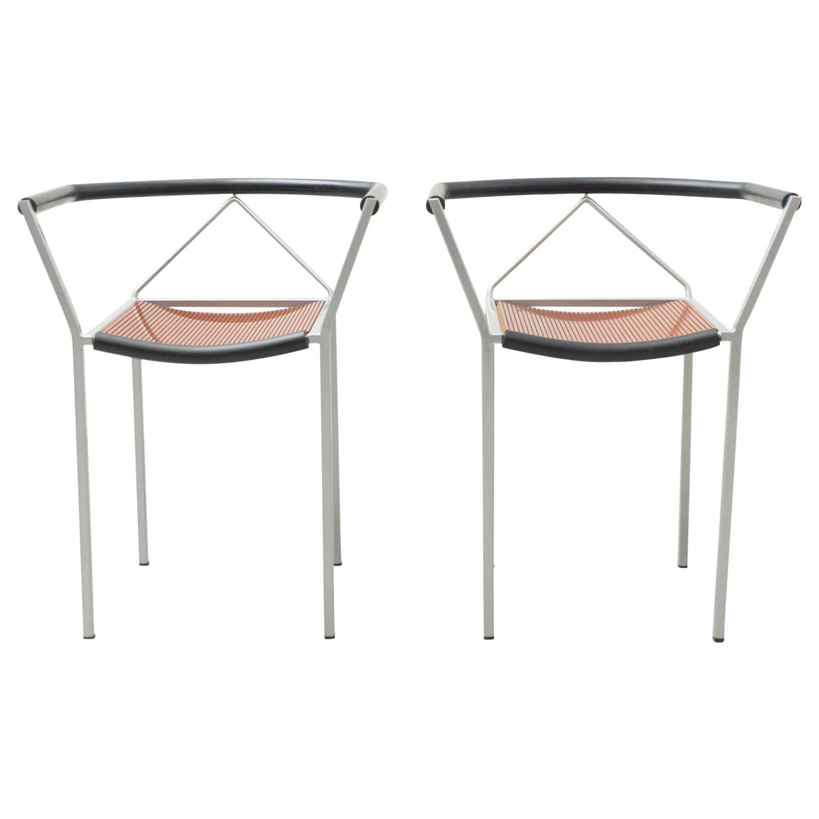 Set of Two Maurizio Peregalli Poltroncina Chairs by Zeus