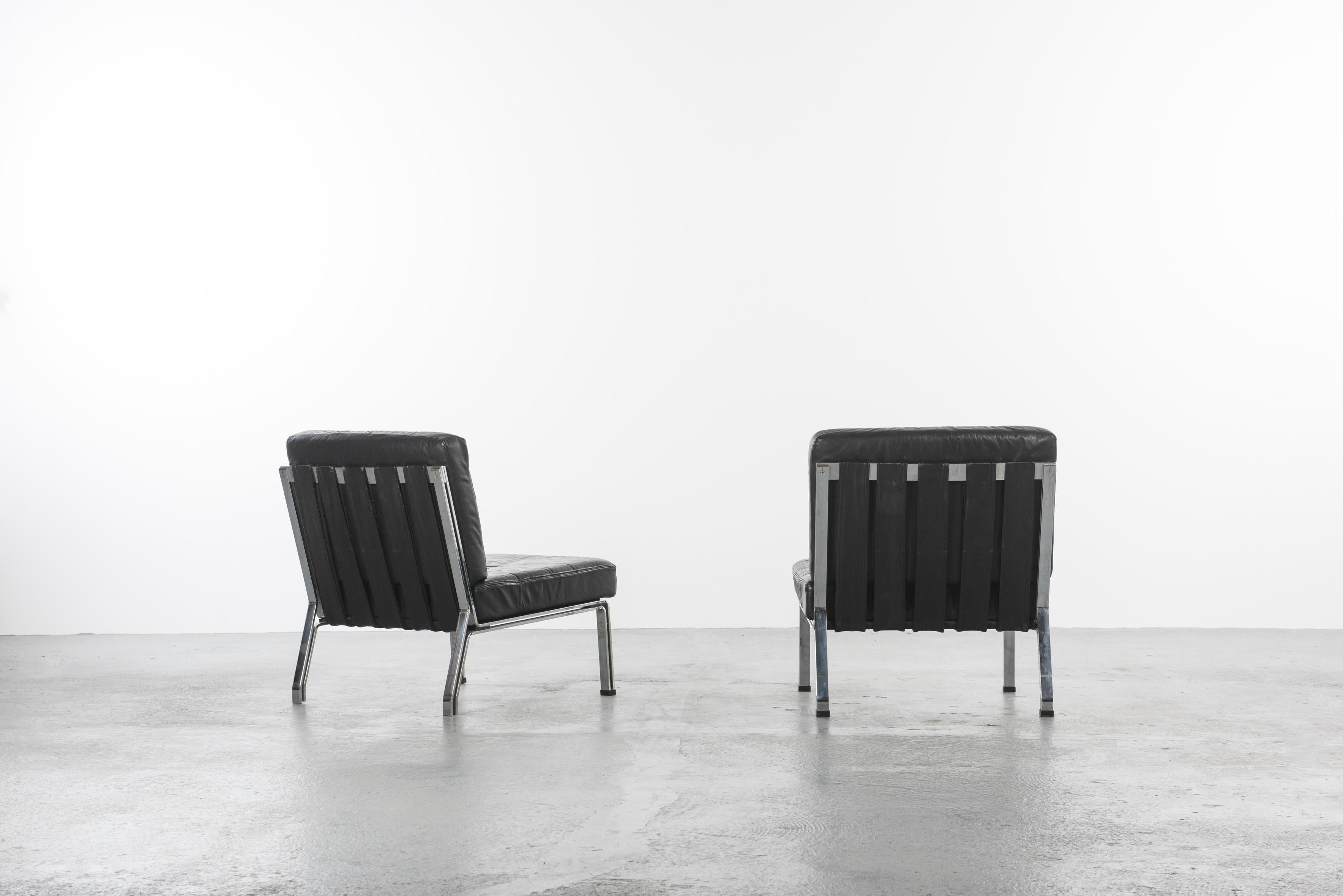 Set Of Two Mid 20th Century Armless Chairs At 1stdibs