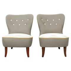 Set of Two Midcentury Artifort Cocktail Chairs by Theo Ruth, 1960s